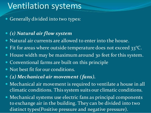 Types Of Ventilation Systems : Managing ventilation in modern poultry house