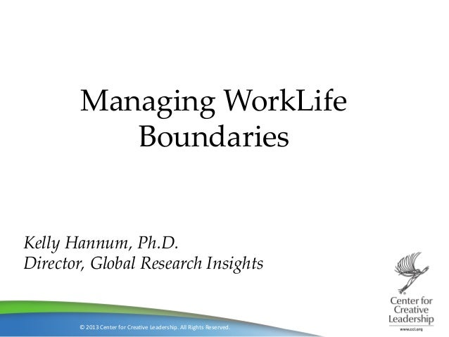 NextGen: Managing work life boundaries