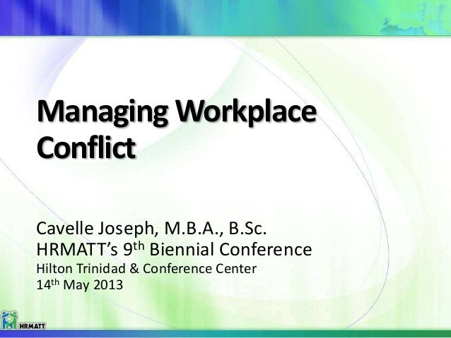 managing conflict in the workplace essay