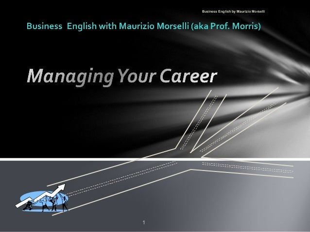 Career Management: You Can Manage it!