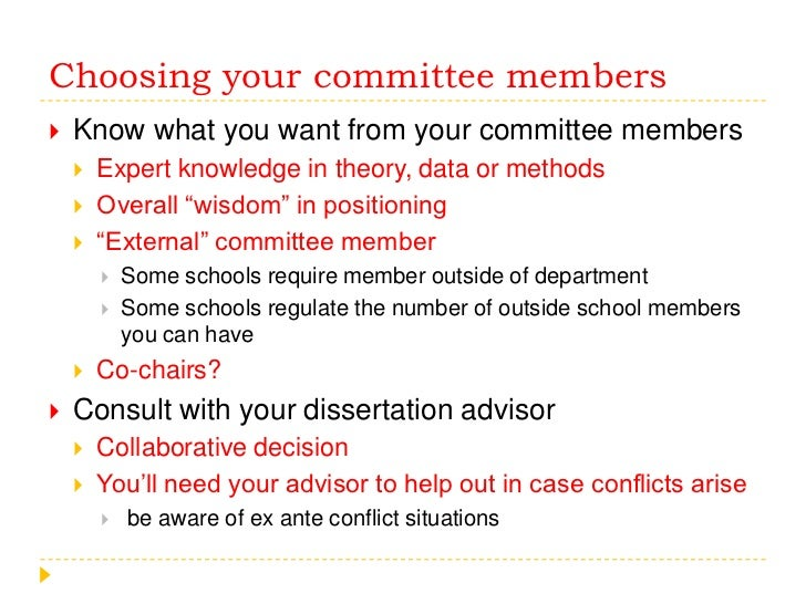 Choosing dissertation committee