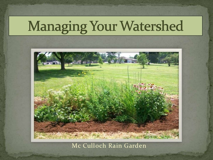 Managing  Your Watershed
