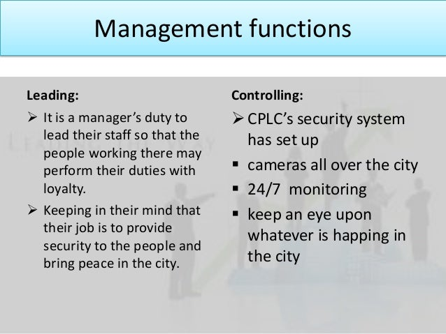 leading function management