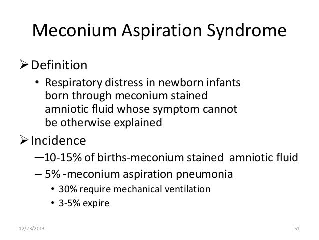 What is meconium-stained amniotic fluid?