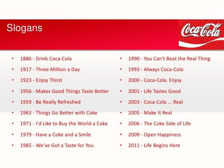 slogan examples advertising slogan   coca cola   enter