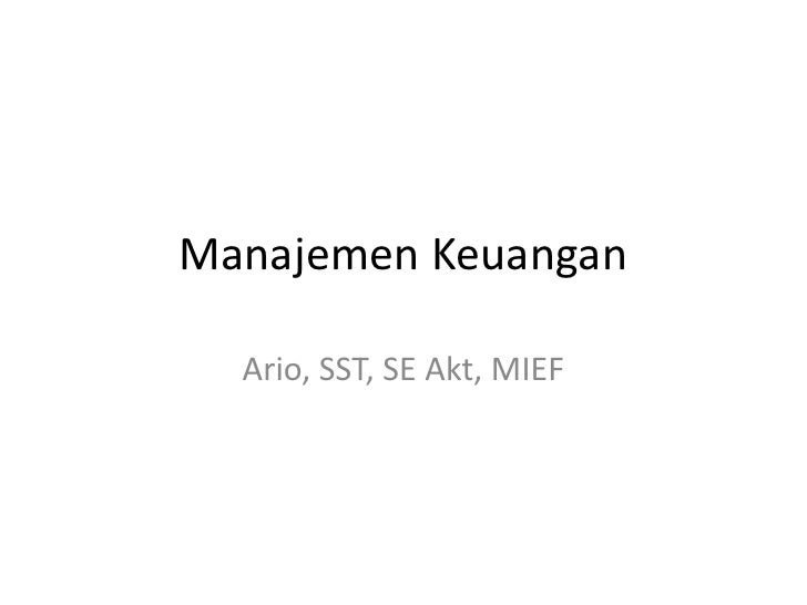 Manajemen keuangan.lecture 4 min