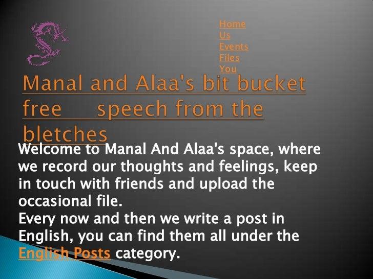 Manal and alaa's bit bucket free     speech from