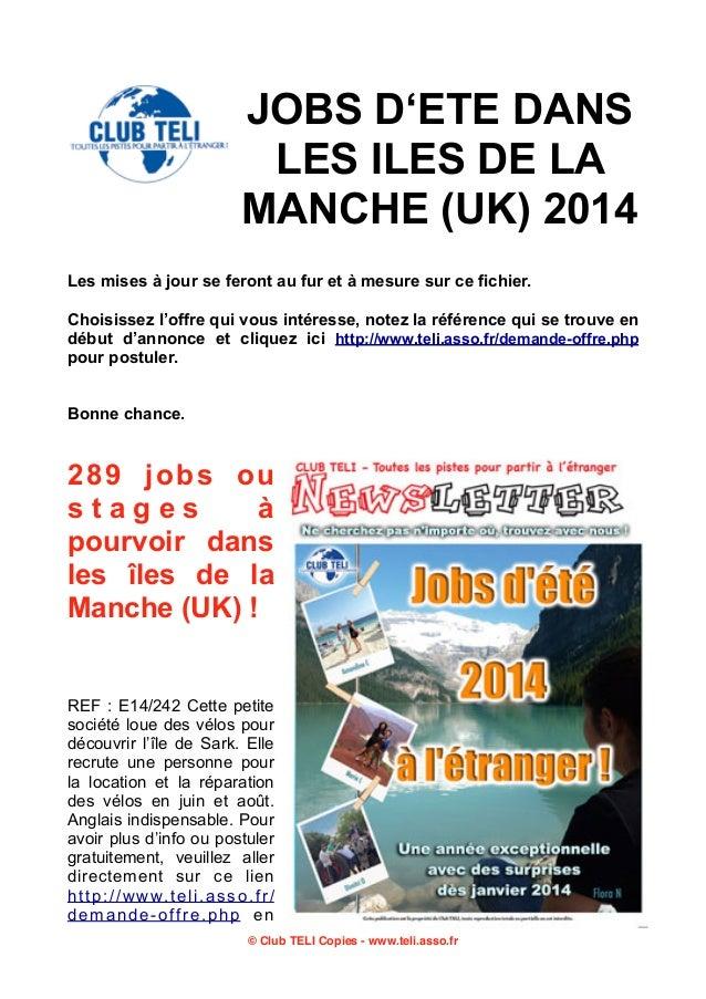 Iles de la Manche jobs-ete-2014