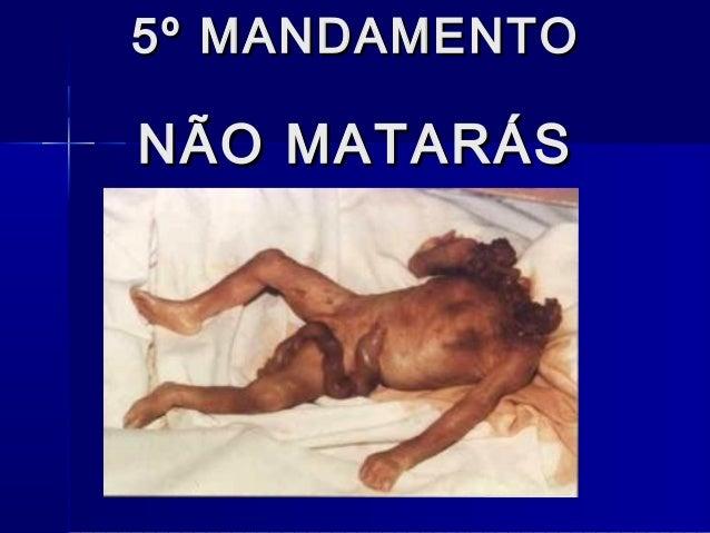 5º MANDAMENTO5º MANDAMENTO NÃO MATARÁSNÃO MATARÁS