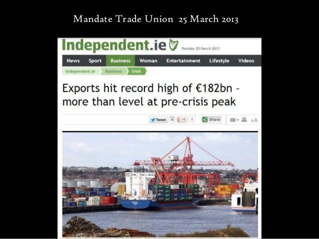 Mandate Trade Union 25 March 2013