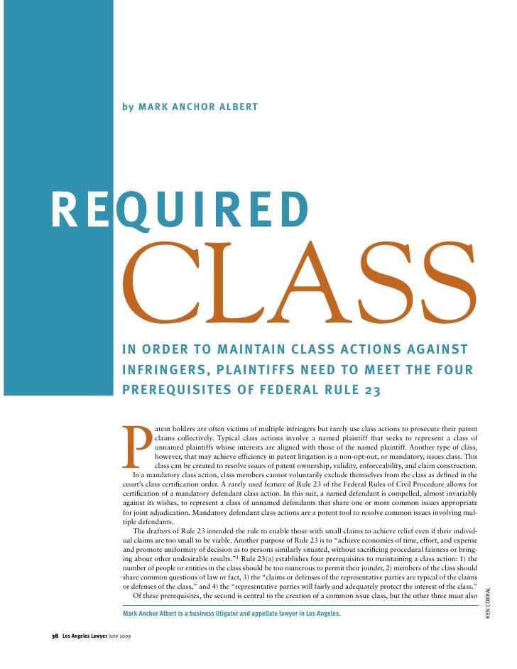 Mandatory Defendant Class Actions