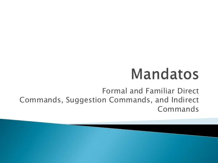 Commands - Spanish II