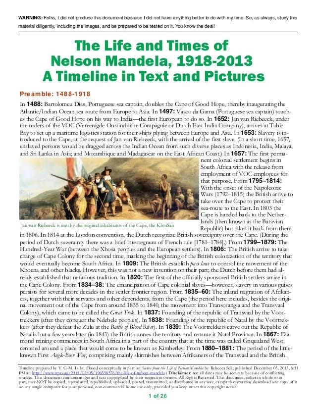 biographical essay on nelson mandela Biographical information nelson mandela was born in 1918 we will write a custom essay sample on mandela nelson.
