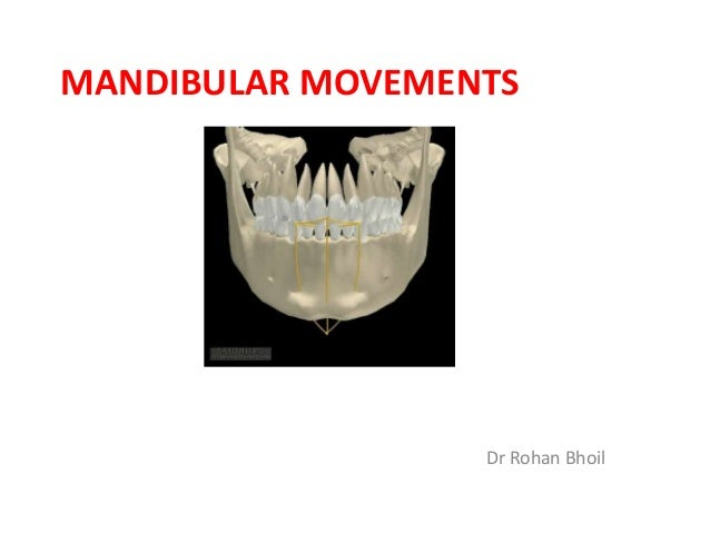 MANDIBULAR MOVEMENTS Dr Rohan Bhoil