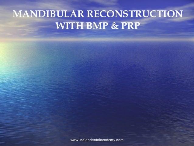 Mandibular reconstruction / oral surgery courses