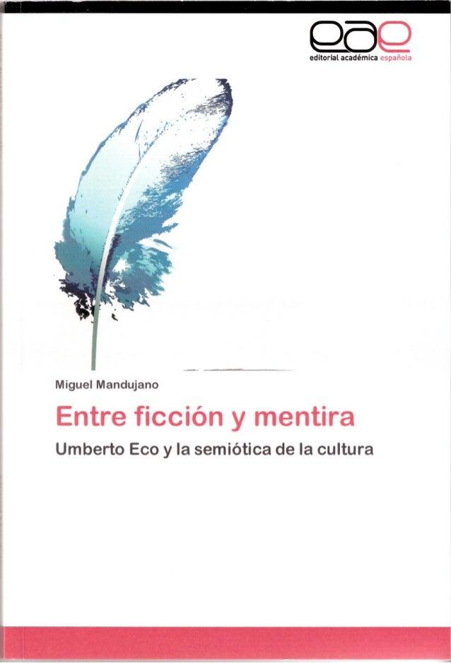 QoQeditorial académica española Miguel Mandujano Entre ficción y mentira Umberto Eco y la semiótica de la cultura