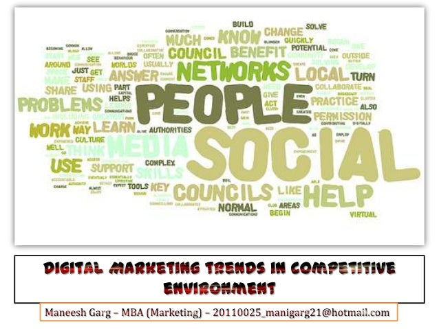 Social / Digital Media - A Presentation on New Trends