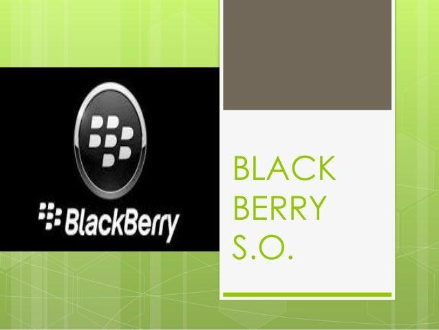 sistema operativo black berry