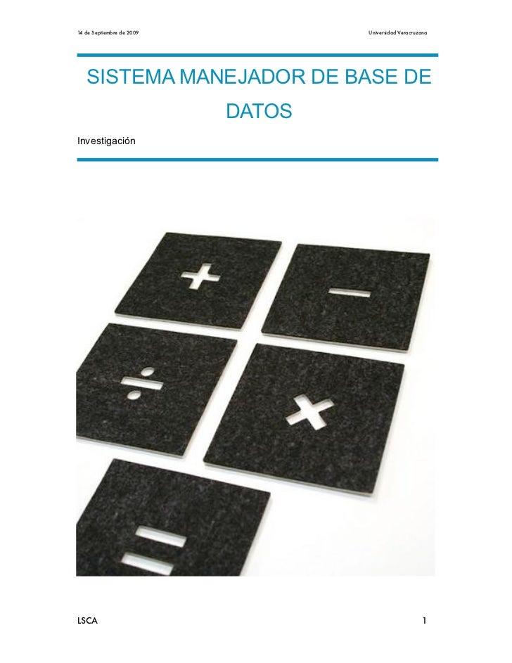 Manejador De Bases De Datos Eq 3