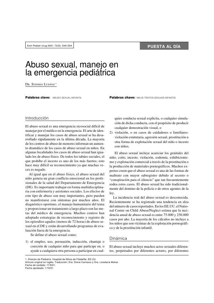 Arch Pediatr Urug 2001; 72(S): S45-S54                                                                                    ...