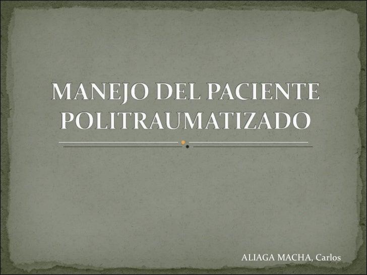 ALIAGA MACHA, Carlos