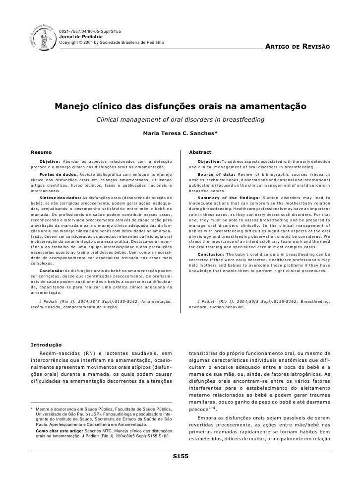 0021-7557/04/80-05-Supl/S155               Jornal de Pediatria               Copyright © 2004 by Sociedade Brasileira de P...
