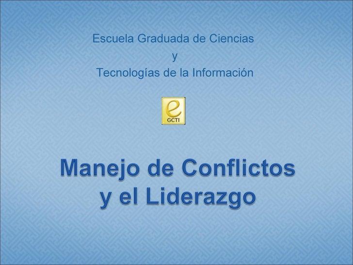 Manejo De Conflictos Y Liderazgo