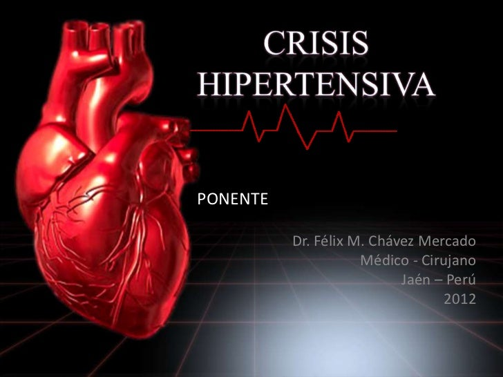 Manejo de crisis hipertensivas en emergencias