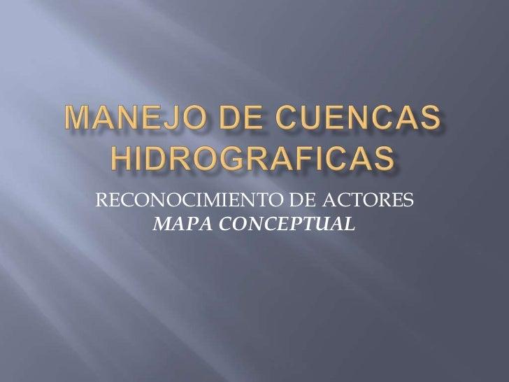 RECONOCIMIENTO DE ACTORES    MAPA CONCEPTUAL