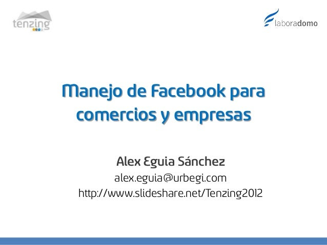 Manejo de facebook para comercios y empresas