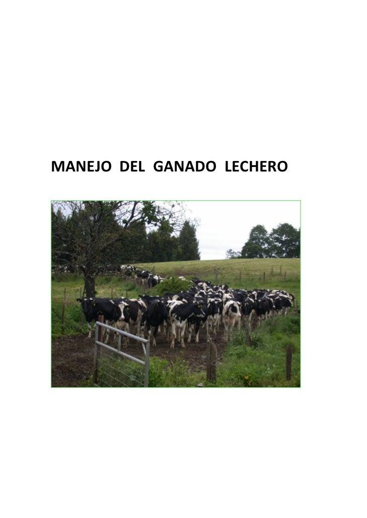 Manejo de ganado lechero