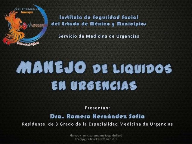 Manejo de liquidos en urgencias