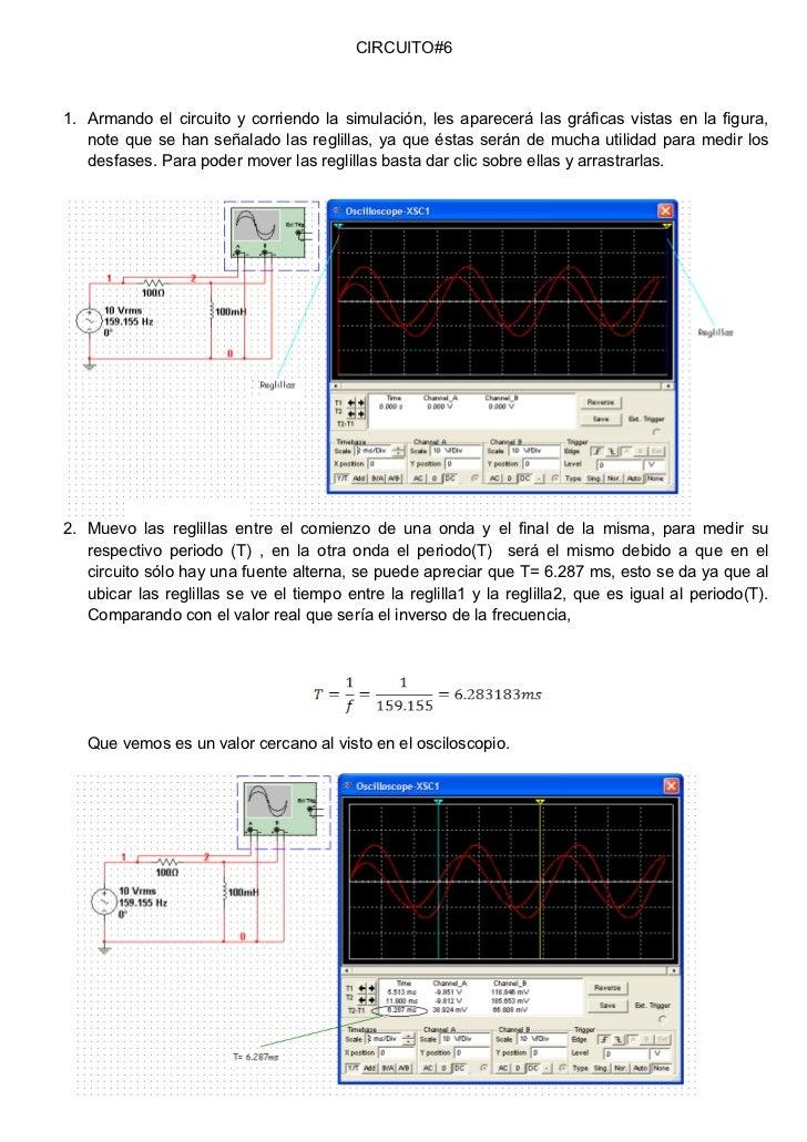 CIRCUITO#61. Armando el circuito y corriendo la simulación, les aparecerá las gráficas vistas en la figura,   note que se ...