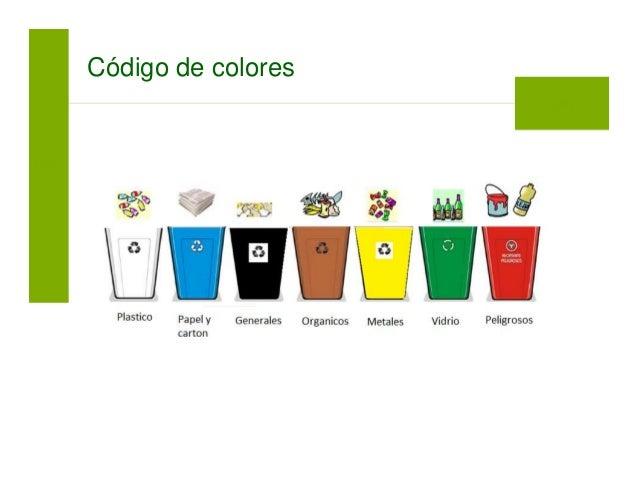 Manejo de residuos solidos - Colores para reciclar ...