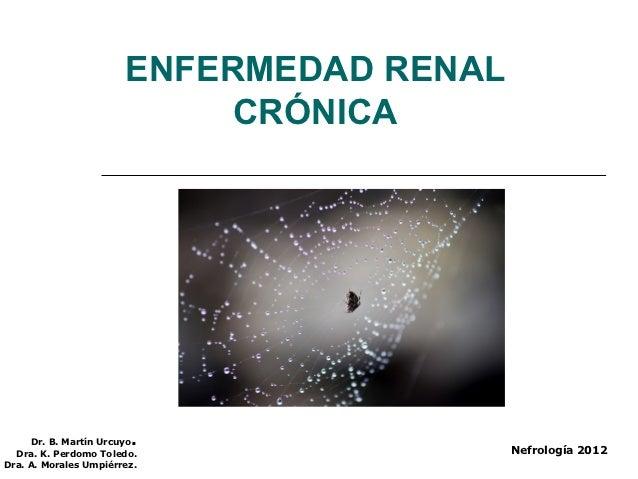 ENFERMEDAD RENAL                            CRÓNICA                        .     Dr. B. Martín Urcuyo  Dra. K. Perdomo Tol...