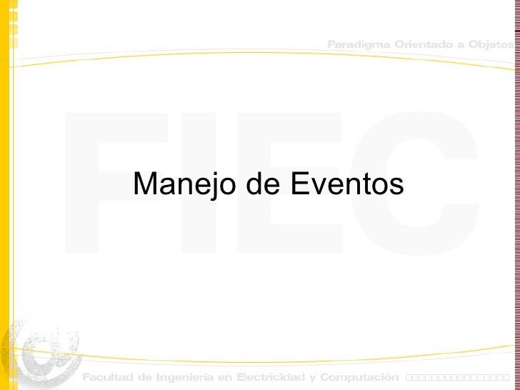 Manejo de eventos