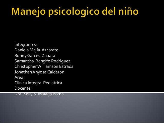 Manejo psicologico del niño (diapossitivas)