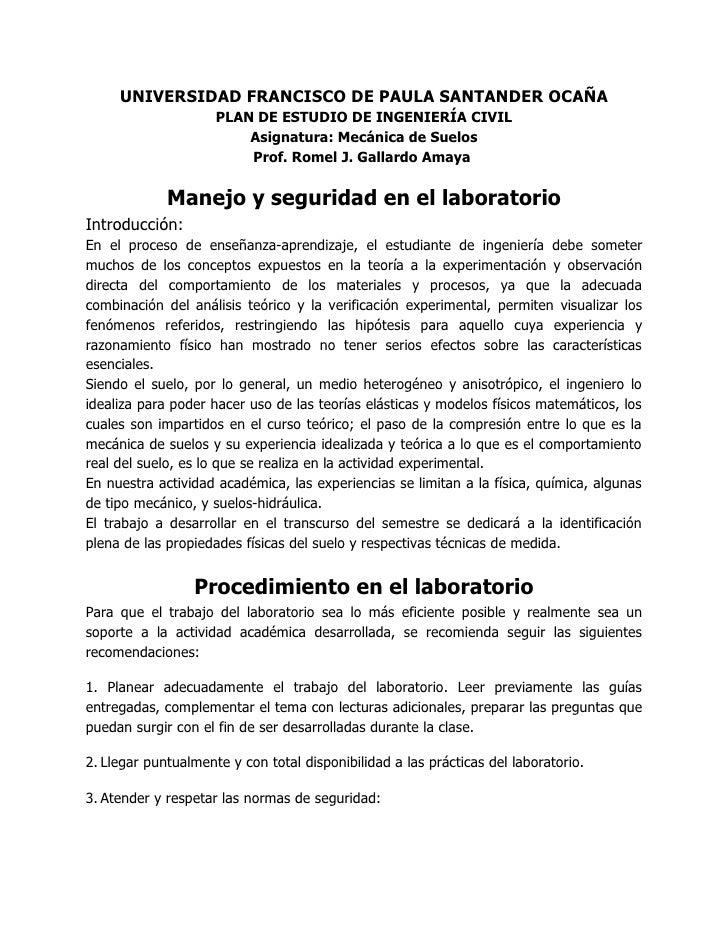 UNIVERSIDAD FRANCISCO DE PAULA SANTANDER OCAÑA                      PLAN DE ESTUDIO DE INGENIERÍA CIVIL                   ...