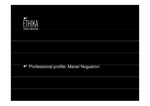 Professional profile: Manel Nogueron