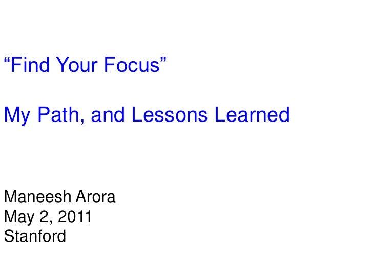 Manesh Arora I Why I Left Google I InternMatch FYF