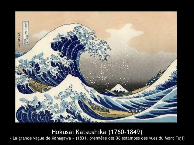Hokusai Katsushika (1760-1849) «La grande vague de Kanagawa » (1831, première des 36 estampes des vues du Mont Fuji)