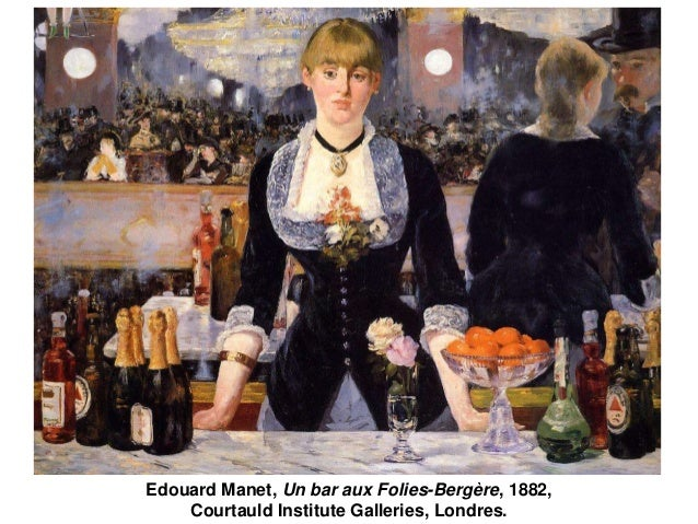 Edouard Manet, Un bar aux Folies-Bergère, 1882,  Courtauld Institute Galleries, Londres.