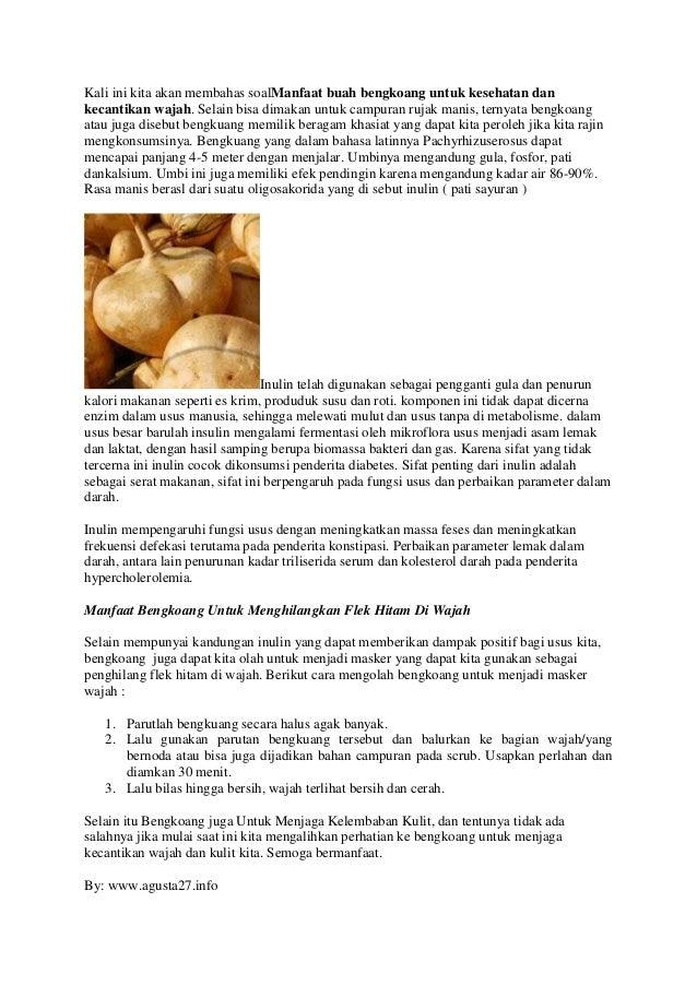 manfaat buah bengkoang untuk kesehatan dan kecantikan