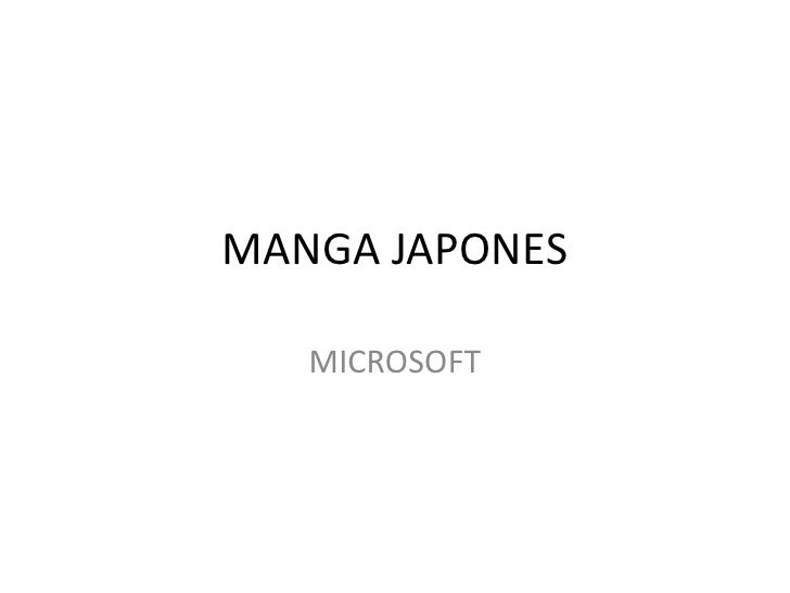 MANGA JAPONES<br />MICROSOFT<br />