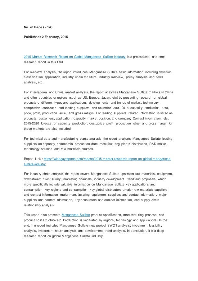 Research/report wrting companies
