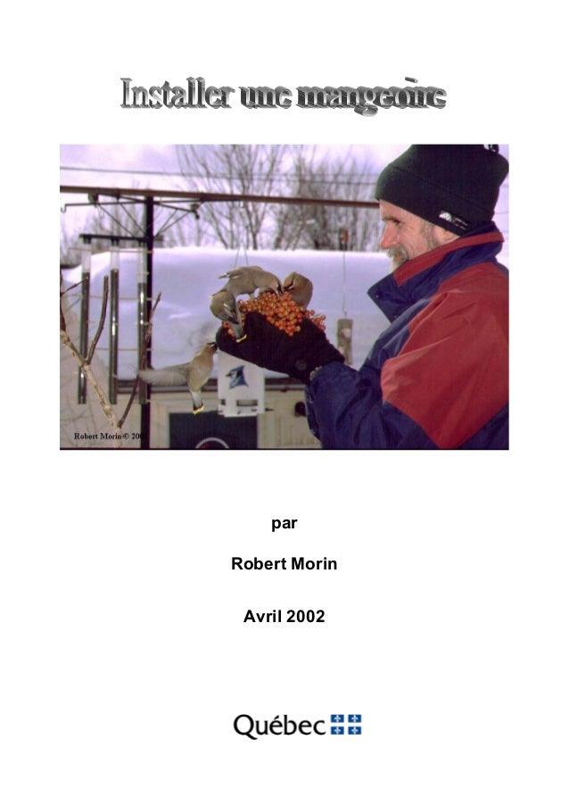 par Robert Morin Avril 2002