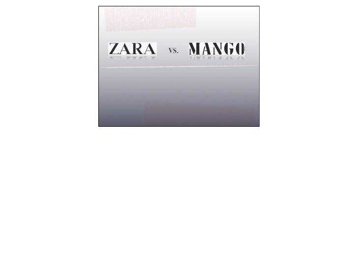 2 Modelos de distribución de moda: MangoMNG vs Modelo Zara INDITEX