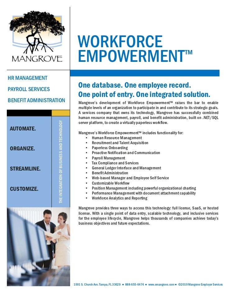 WORKFORCE                                                                  EMPOWERMENT™HR MANAGEMENTPAYROLL SERVICES      ...