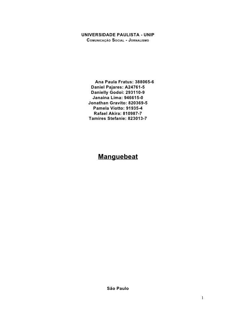Manguebeat at 21 30
