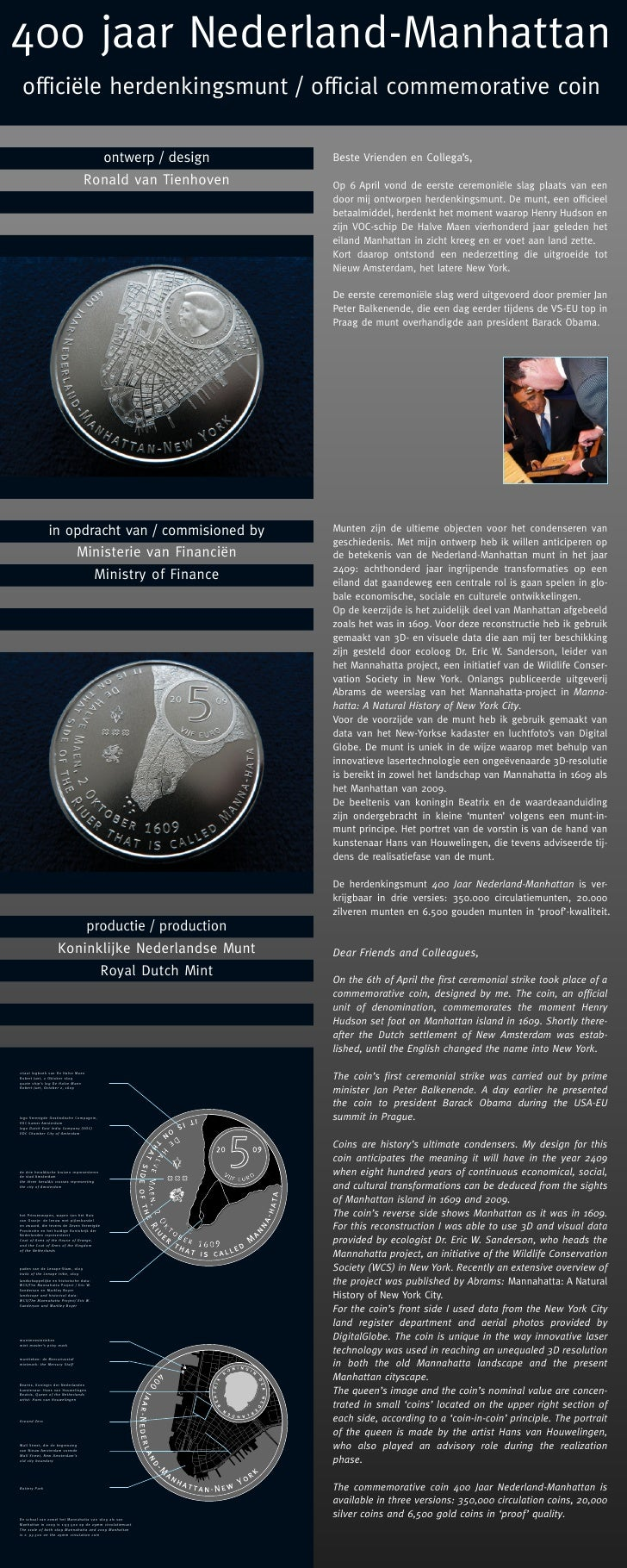 400 Years Netherlands: Manhattan Coin PDF - March2009